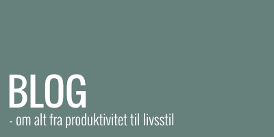 Blog-indlæg om alt fra produktivitet til livsstil