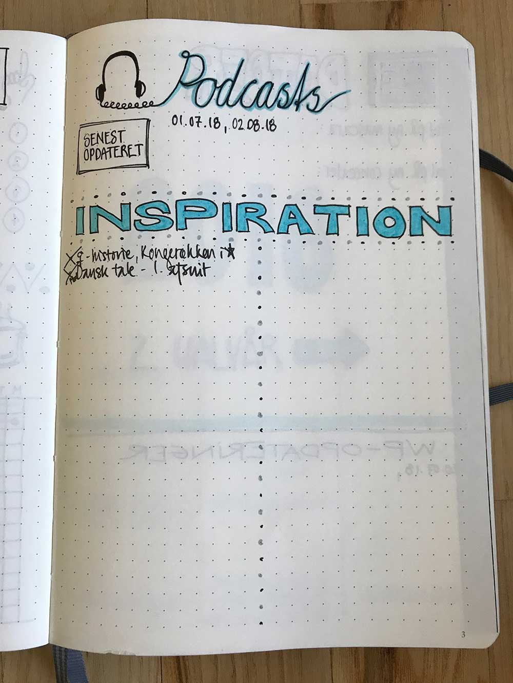 BulletJournal: Podcast-inspiration