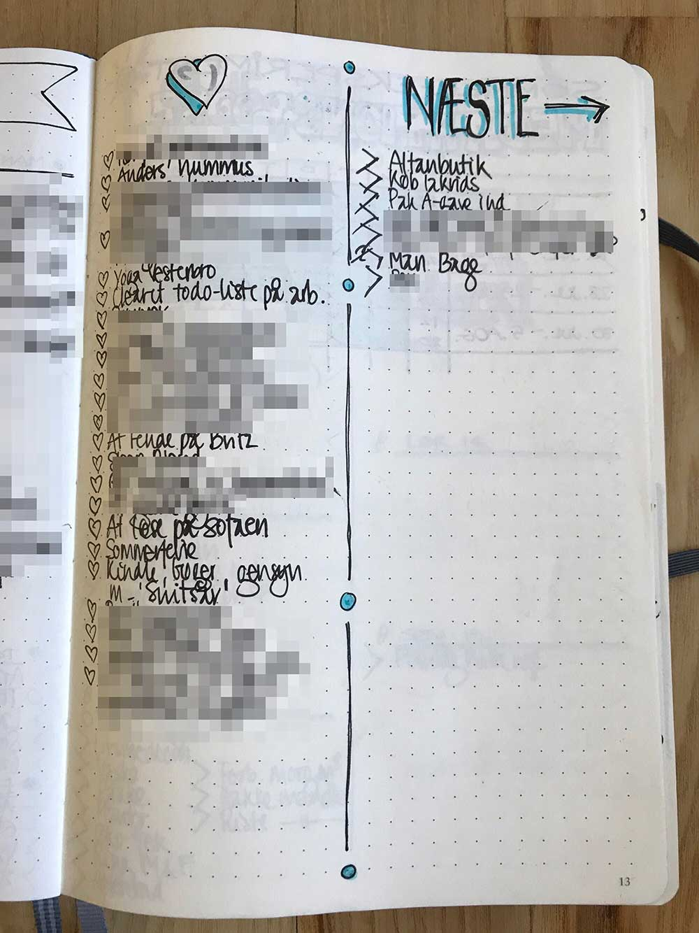 BulletJournal: Taknemmelighedsdagbog